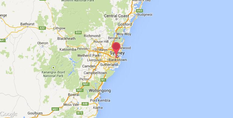 澳洲 悉尼大学  地理位置